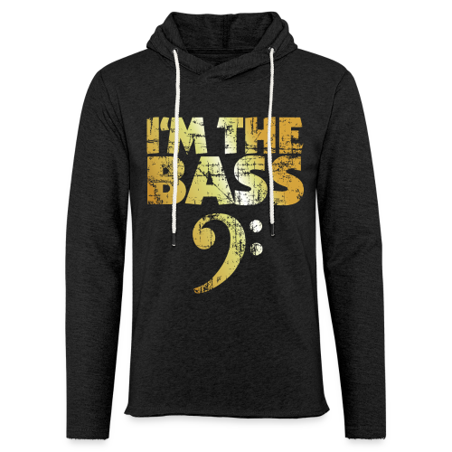 I'm the Bass T-Shirt (Gold) - Leichtes Kapuzensweatshirt Unisex