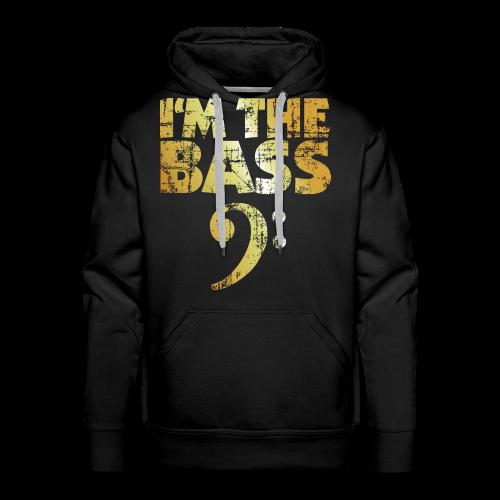 I'm the Bass T-Shirt (Gold) - Männer Premium Hoodie