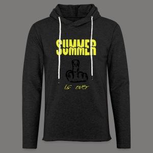 Summer is over - Leichtes Kapuzensweatshirt Unisex