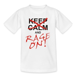KEEP CALM and RAGE ON - black - Kinder T-Shirt