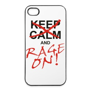 KEEP CALM and RAGE ON - black - iPhone 4/4s Hard Case