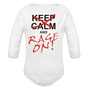 KEEP CALM and RAGE ON - black - Baby Bio-Langarm-Body
