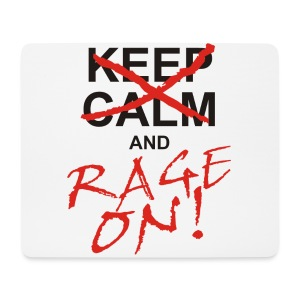 KEEP CALM and RAGE ON - black - Mousepad (Querformat)
