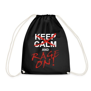 KEEP CALM and RAGE ON - white - Turnbeutel
