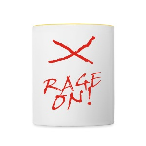 KEEP CALM and RAGE ON - white - Tasse zweifarbig