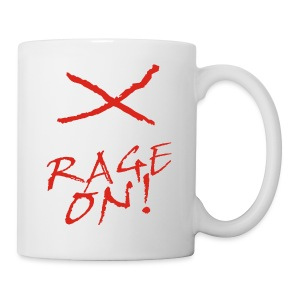 KEEP CALM and RAGE ON - white - Tasse