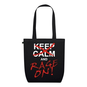 KEEP CALM and RAGE ON - white - Bio-Stoffbeutel