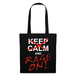 KEEP CALM and RAGE ON - white - Stoffbeutel