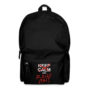 KEEP CALM and RAGE ON - white - Rucksack