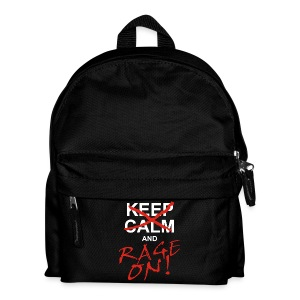 KEEP CALM and RAGE ON - white - Kinder Rucksack