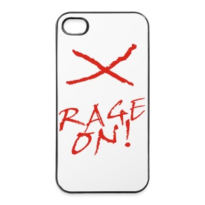 KEEP CALM and RAGE ON - white - iPhone 4/4s Hard Case