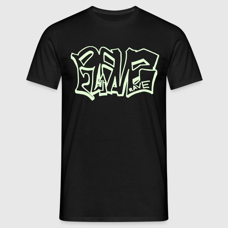 Rave Graffiti Glow in the Dark - Men's T-Shirt