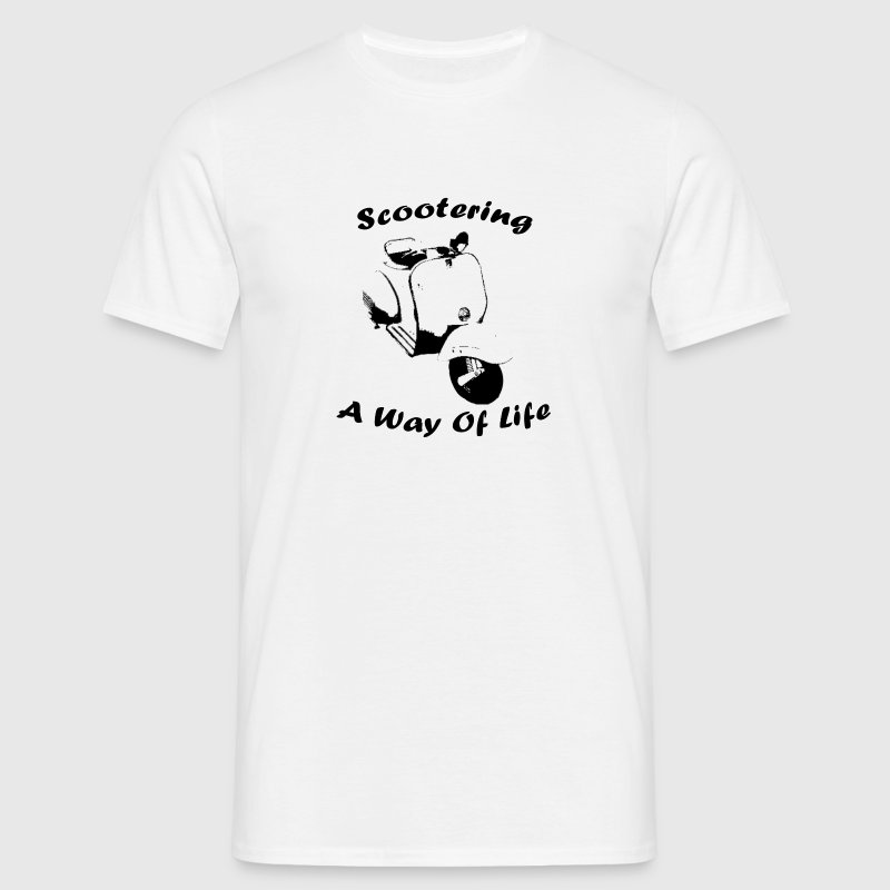White scootering a way of life Men's T-Shirts - Men's T-Shirt