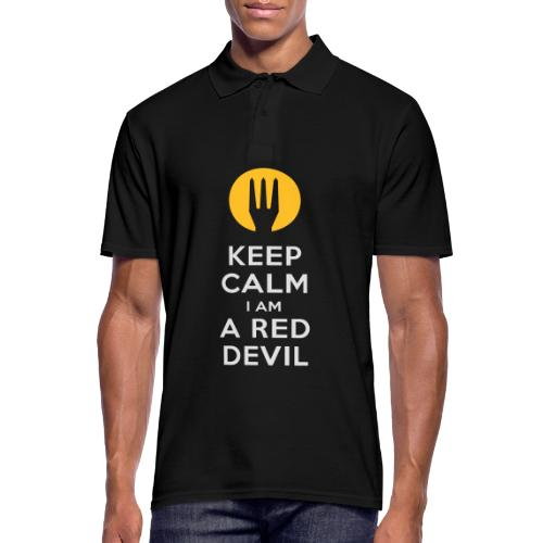 keep calm i am a red devil- Belgium - Belgie - Polo Homme