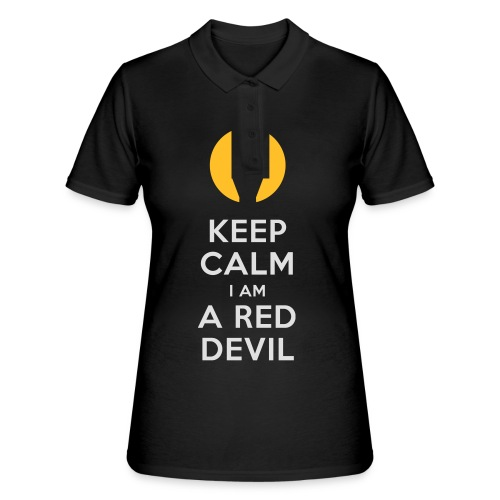 keep calm i am a red devil- Belgium - Belgie - Women's Polo Shirt