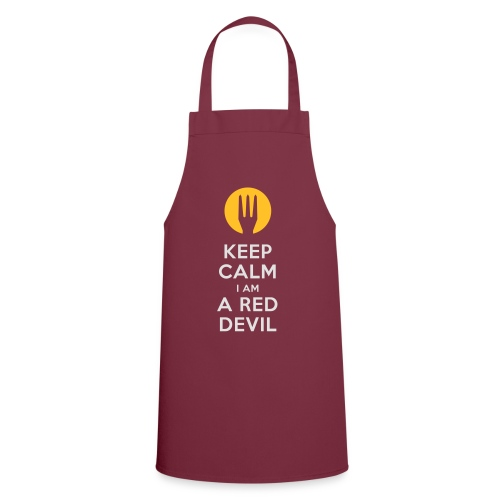 keep calm i am a red devil- Belgium - Belgie - Tablier de cuisine