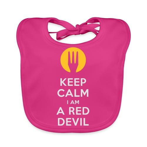 keep calm i am a red devil- Belgium - Belgie - Bavoir bio Bébé