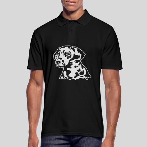 Dalmatiner *weiss* nur für dunkle Textilien - Männer Poloshirt