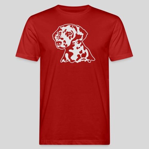 Dalmatiner *weiss* nur für dunkle Textilien - Männer Bio-T-Shirt