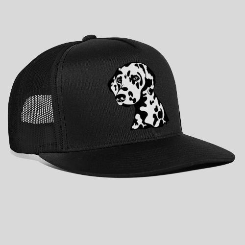 Dalmatiner *schwarz(braun)/weiss* gefüllt - Trucker Cap