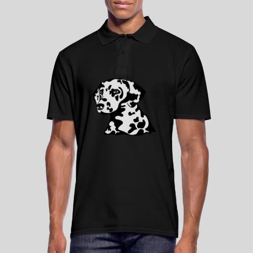 Dalmatiner *schwarz(braun)/weiss* gefüllt - Männer Poloshirt