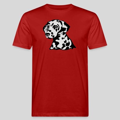 Dalmatiner *schwarz(braun)/weiss* gefüllt - Männer Bio-T-Shirt
