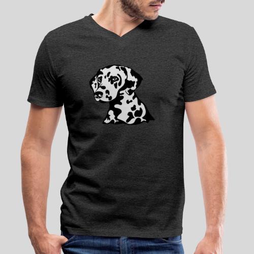Dalmatiner *schwarz(braun)/weiss* gefüllt - Männer Bio-T-Shirt mit V-Ausschnitt von Stanley & Stella