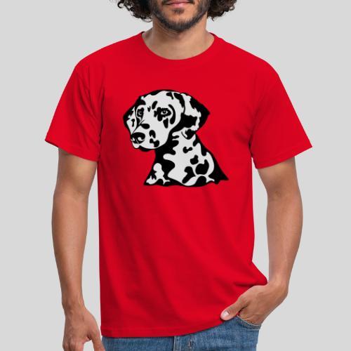 Dalmatiner *schwarz(braun)/weiss* gefüllt - Männer T-Shirt