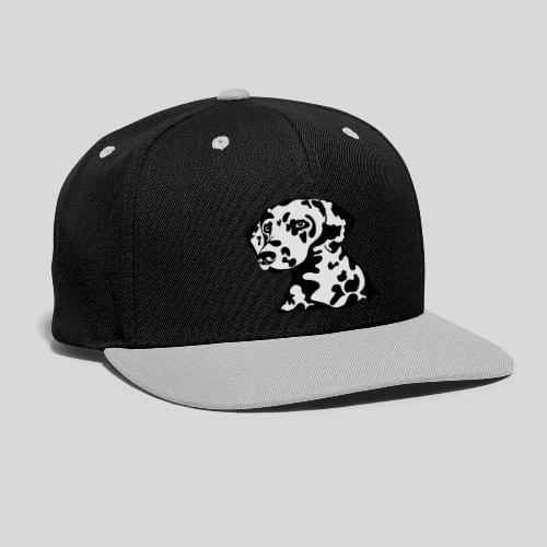 Dalmatiner *schwarz(braun)/weiss* gefüllt - Kontrast Snapback Cap