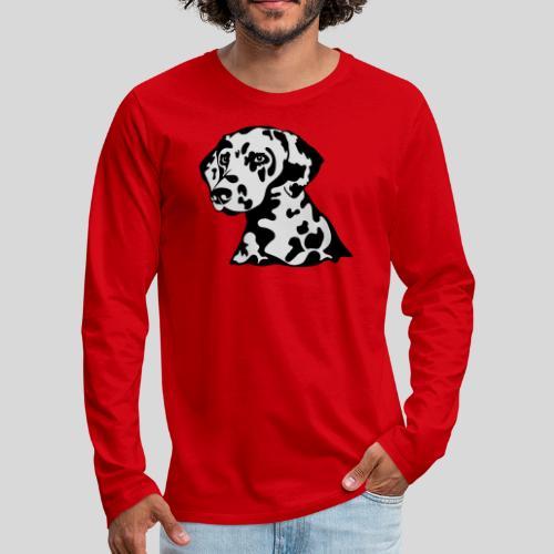 Dalmatiner *schwarz(braun)/weiss* gefüllt - Männer Premium Langarmshirt