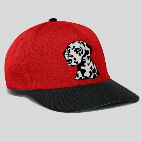 Dalmatiner *schwarz(braun)/weiss* gefüllt - Snapback Cap