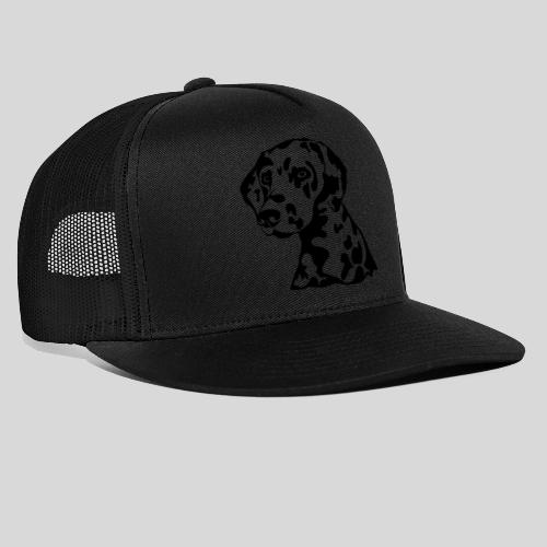 Dalmatiner *schwarz* nur für helle Textilien - Trucker Cap