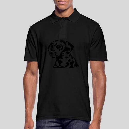 Dalmatiner *schwarz* nur für helle Textilien - Männer Poloshirt