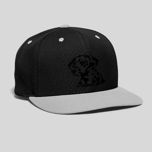 Dalmatiner *schwarz* nur für helle Textilien - Kontrast Snapback Cap