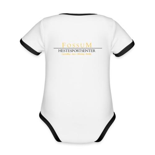Økologisk kortermet kontrast-babybody