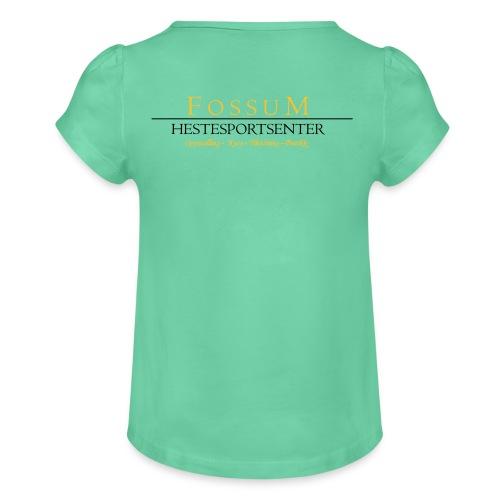 Jente-T-skjorte med frynser