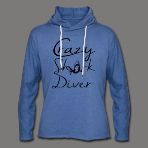 Crazy Shark Diver-2017 - Leichtes Kapuzensweatshirt Unisex