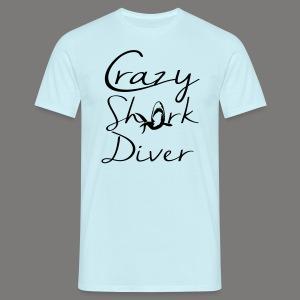 Crazy Shark Diver-2017 - Männer T-Shirt