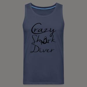 Crazy Shark Diver-2017 - Männer Premium Tank Top