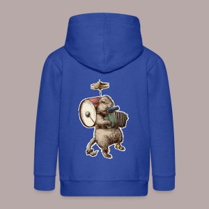 Prairie Dog One Man Band - Kids' Premium Zip Hoodie