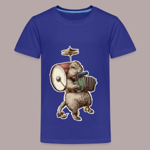 Prairie Dog One Man Band - Teenage Premium T-Shirt