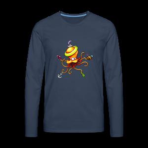 cloth bag octopus - Männer Premium Langarmshirt