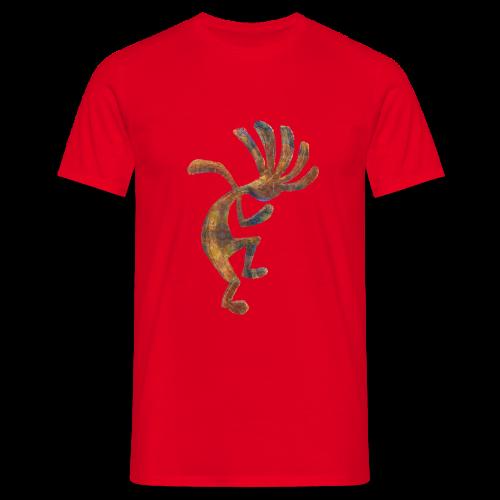 Cocopelli + ZW Schriftzug auf Rücken - Männer T-Shirt