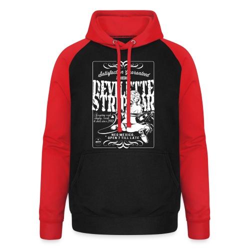 Devil Strip Bar Angel  - Unisex Baseball Hoodie