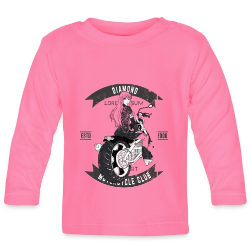 Biker Girl from Anime Hell - Baby Long Sleeve T-Shirt
