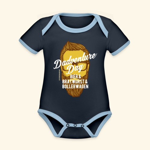 lustiges Vatertags-Shirt Dadventure Day - Baby Bio-Kurzarm-Kontrastbody