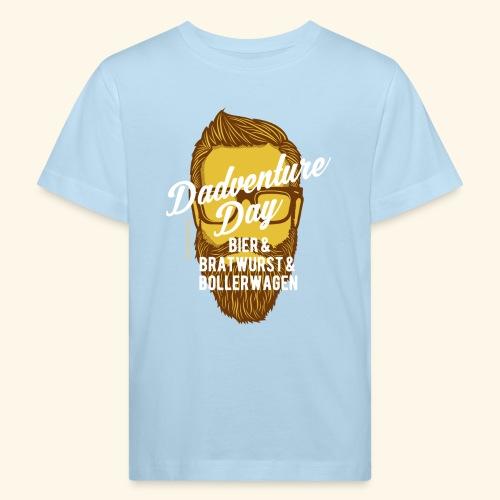 lustiges Vatertags-Shirt Dadventure Day - Kinder Bio-T-Shirt