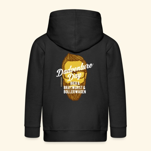 lustiges Vatertags-Shirt Dadventure Day - Kinder Premium Kapuzenjacke
