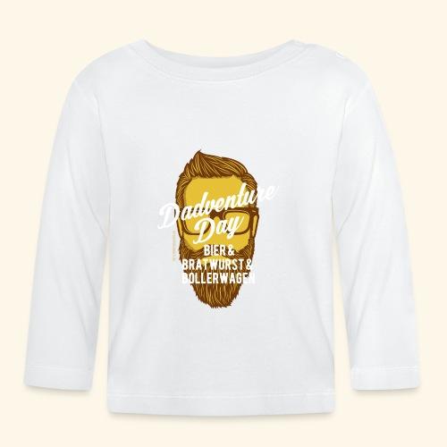 lustiges Vatertags-Shirt Dadventure Day - Baby Langarmshirt