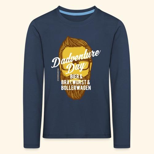 lustiges Vatertags-Shirt Dadventure Day - Kinder Premium Langarmshirt